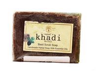 KHADI HERBAL BASIL SCRUB SOAP