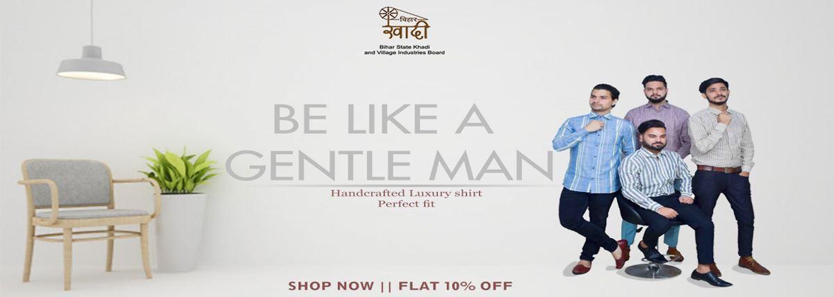 Bihar Khadi Men's Wear